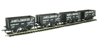Pack of 4 8 plank end door wagon in James & Emanuel livery