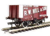 "8 plank end door wagon in ""R. W. Hill & Son"" livery"