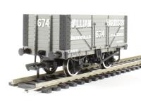 "8 plank end door wagon in ""William Harrison"" livery"