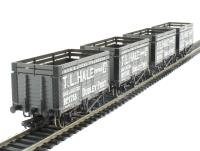 "Pack of 4 7 plank wagon with coke rails ""T. L. Hale (Tipton) Ltd"""