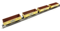 Pack of 4 46 Ton POA box mineral wagon in ARC livery
