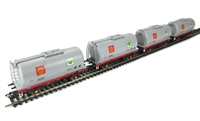 Pack of 4 45 ton TTA tank in Shell BP grey livery