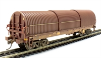 102 Tonne GLW Thrall BRA steel strip carrier in EWS livery - weathered