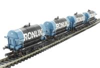 "Pack of 4 14 Ton Tank Wagon ""Ronuk"""