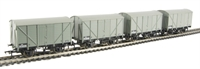 Pack of 4 12 ton ventilated van in BR WR) grey