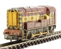 Class 08 diesel 08897 in EWS livery - weathered