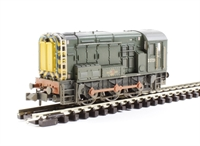 Class 08 diesel shunter D3729 in BR green with wasp stripes - weathered
