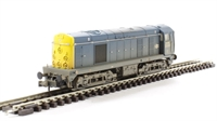 Class 20 diesel 20063 in BR blue with indicator discs - weathered