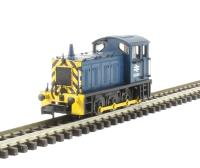 Class 04 Shunter D2295 in BR Blue with Wasp Stripes