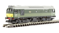 Class 25/3 diesel D7638 in BR two-tone green