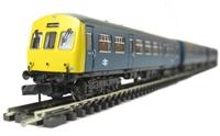 Class 101 3 car DMU in BR blue
