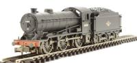 Class J39 0-6-0T 64841 in BR black with late crest & stepped tender - weathered
