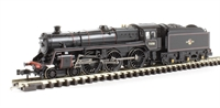 Standard Class 5MT 4-6-0 73158 in BR lined black with late crest BR1B tender