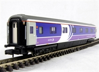 "Mk3 SLEP 75ft sleeper car in ""Scotrail Caledonian"" livery"