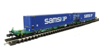 Intermodal Bogie Wagons With Two 45ft Containers 'Samskip'.