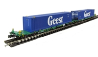 Intermodal Bogie Wagons With Two 45ft Containers 'Geest'.