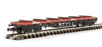 80 Tonne glw BDA Bogie Bolster Wagon BR Railfreight Red