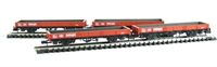 Pack of 4 SPA Wagon Steel Coil Wagon in Railfreight red