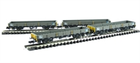 Pack of 4 SPA Wagon with Steel Coils Railfreight Metal Sector.