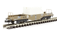 FNA Nuclear Flask Wagon with Flat Floor & Round Buffers - Flask 14