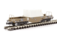 FNA Nuclear Flask Wagon with Flat Floor, Changeover Valve & Round Buffers - Flask 23