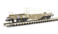 FNA Nuclear Flask Wagon with Sloping Floor & Oval Buffers - Flask 38