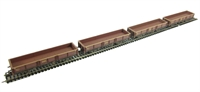Pack of 4 31 tonne OCA dropside open wagon in EWS livery - weathered