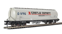 JPA bogie cement hopper in VTG - Castle Cement livery