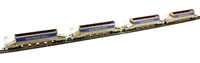 Pack of 4 JJA auto ballaster in Railtrack livery with curved top profile (4 per rake with each Generator wagon)