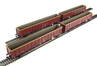 Pack of 4 MBA Megabox high-sided bogie box wagon in EWS livery (with buffers)