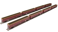 Megapack of 8 MBA Megabox high-sided bogie box wagon in EWS livery (with buffers)