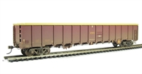 MBA Megabox high-sided bogie box wagon in EWS livery - weathered (without buffers)