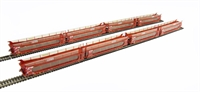Pack of 4 IPA twin double deck car transporter in 'STVA' red livery