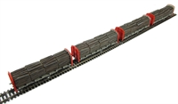 Pack of 4 OTA (ex-VDA) timber carrier with lumber load in BR Railfreight livery
