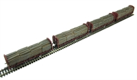 Pack of 4 OTA (ex-VDA) timber carrier with lumber load in EWS livery