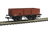 13 Ton high sided steel open wagon with smooth sides in BR bauxite (early)