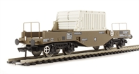 FNA nuclear flask wagon with sloping floor, changeover valve & round buffers in standard Buff livery - Flask 21