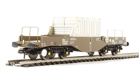 FNA nuclear flask wagon with sloping floor & oval buffers in standard Buff livery - Flask 43