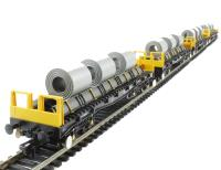 Pack of 4 BAA steel carrier with steel coils in Railfreight Metals livery