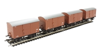 Pack of 4 12 Ton non-ventilated van with corrugated ends in BR bauxite (early)