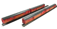 Pack of 4 BR Mk1 POS Post Office Sorting Van in Royal Mail Letters Large Red.