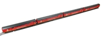 Pack of 4 BR Mk1 POS Post Office Sorting Van in Royal Mail Travelling Post Office Red.