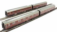 Pack of 4 BR Mk1 SLF Sleeper Car in maroon