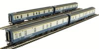 Pack of 4 BR Mk1 SLF Sleeper Car in blue & grey