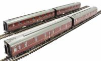 Pack of 4 BR Mk1 SLSTP Sleeper Car in maroon