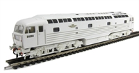 Lion Diesel locomotive D0260 in white livery with 5 gold stripes
