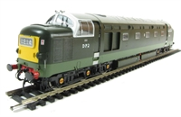 English Electric DP2 prototype in BR two-tone green (as per 1965 until withdrawal in 1967)