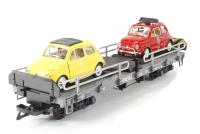Car transporter with 2 Fiat 500DB cars