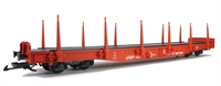 DB Flat Wagon with stakes - 4 axle