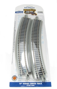 18in. Radius Curved Track (4/Card)